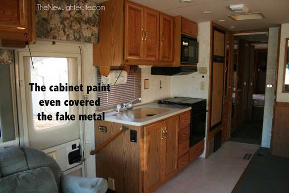 Wonderful  Framing Kitchen Cabinets In Vintage Caravan  Travel Trailer  RV