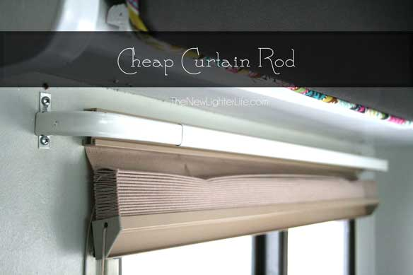 Curtain Rods cheapest place to buy curtain rods : RV Window Treatments - The New Lighter Life