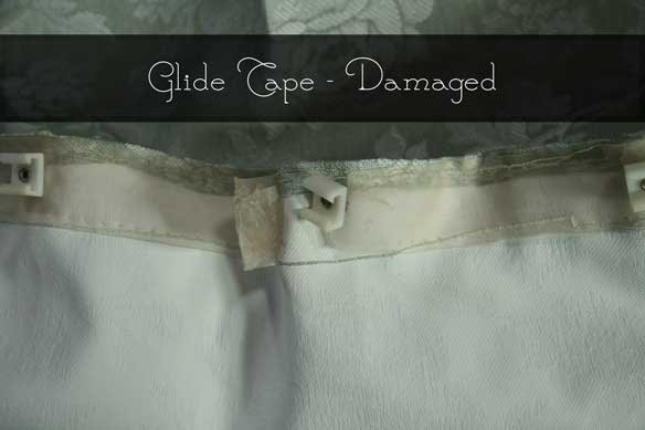 damaged-glide-tape-for-rv-window-treatments