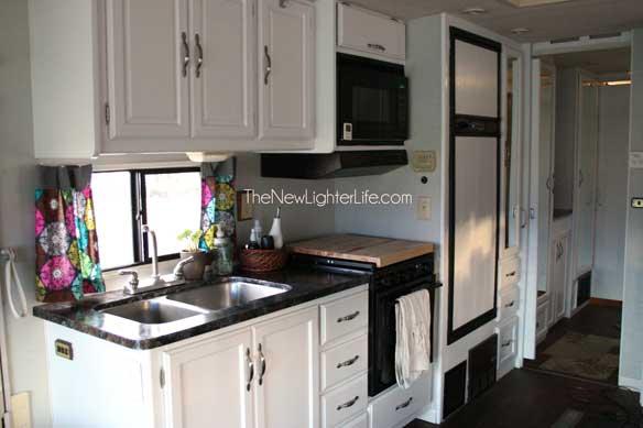 Kitchen Closet View Of Remodeled 96 Winnebago Adventurer
