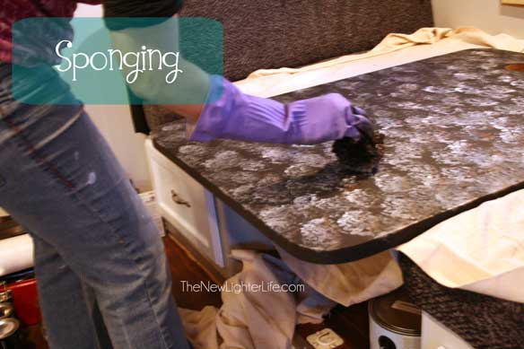 Nuvo Countertop Paint Video : spinging-on-nuvo-countertop-paint